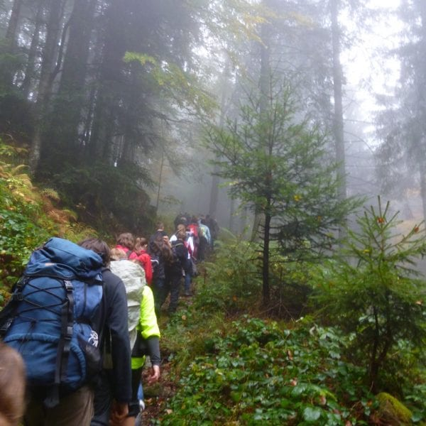 Erlebnispädagogik heißt unterwegs sein. Mit dem Rucksack. Zu Fuß. Auf GPS-Tour.
