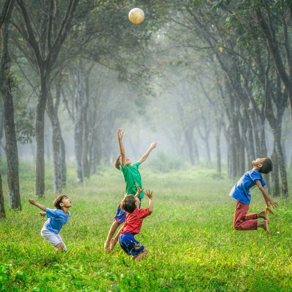 Ballspielen und toben stehen auf jeden Fall auf unserem Programm für die Tagesbetreuung.