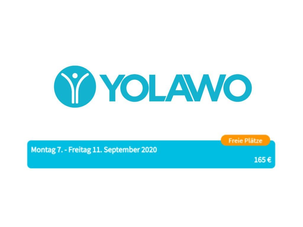 Die Anmeldung und Bezahlung läuft bequem über unseren Partner YOLAWO.