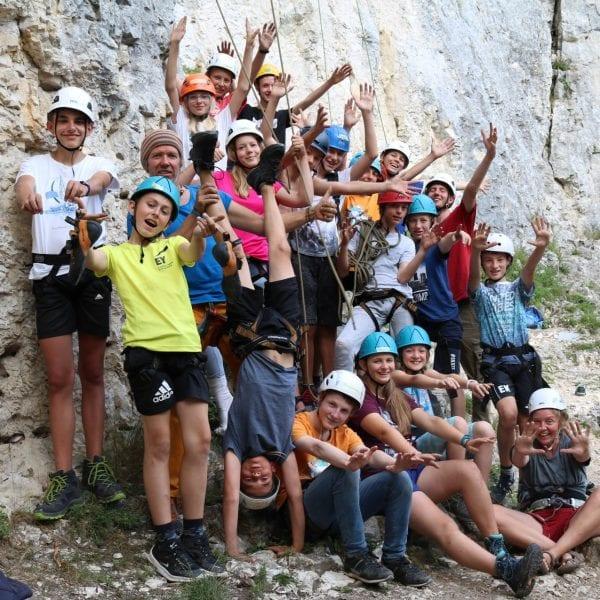 Unsere Kletterguides sind in den Sommerferien bei unseren Klettercamps im Einsatz.