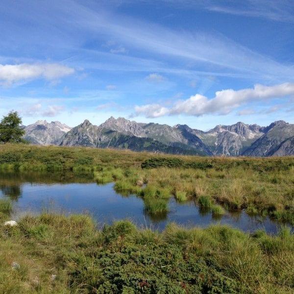 Dein Praktikum führt Dich an entlegene Orte. Zum Beispiel zur Alpenüberquerung auf den E5.