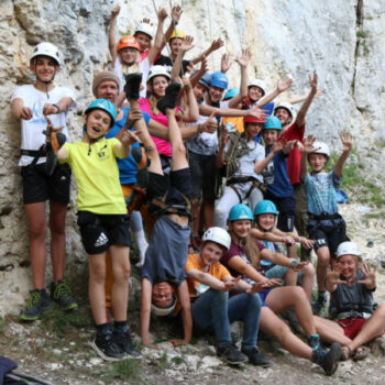 Am Ende eine aufregenden Klettertages sind alle happy :)