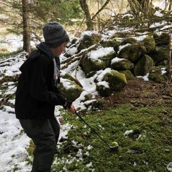 Golf im winterlichen Wald? Na klar, warum nicht!