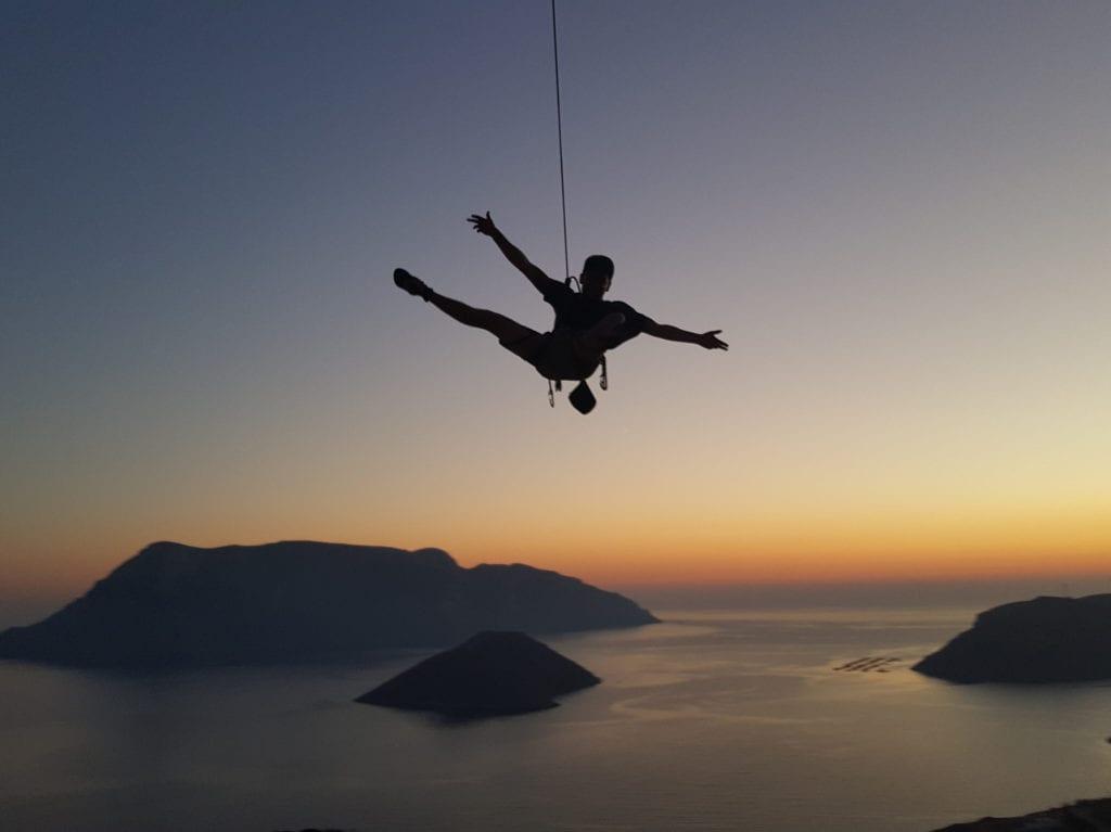 Kletterreisen auf Kalymnos gehen bis das Licht aus ist