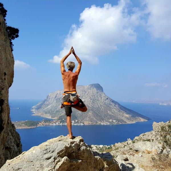 Stephan Straub und Klettern und Yoga