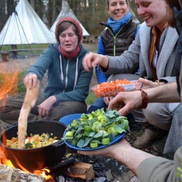 WIr legen großen Wert auf leckeres Essen auf Erlebnispädagogischen Klassenfahrten