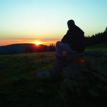 Abends den Sonnenuntergang bewusst wahrnehmen...