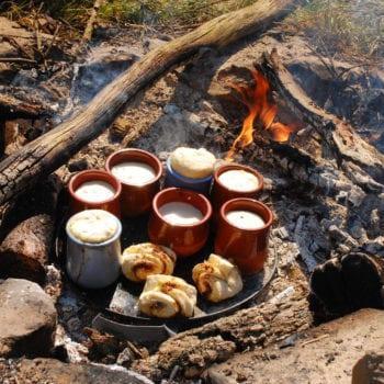 Auf dem Lagerfeuer kann man auch den leckersten Nachtisch zubereiten.... mhmmmm!