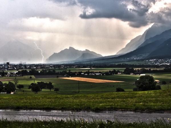 Ein Gewitter in den Bergen kann gefährlich werden!