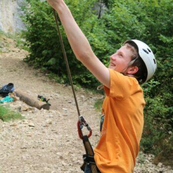 Bei der Kletterfreizeit sicherst Du Deinen Kletterbuddy.... und das macht Spaß!