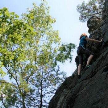 Beim Klettern im Morgenbachtal geht's für Dich hoch hinaus!