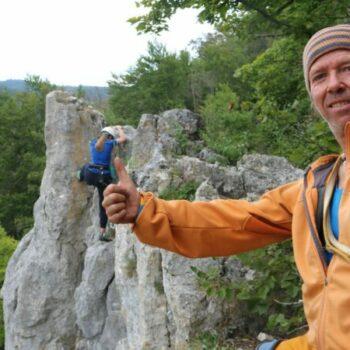 Tip Top... unsere Kletterguides schauen nach Dir und freuen sich mit Dir, wenn Du Deine Route geschafft hast!