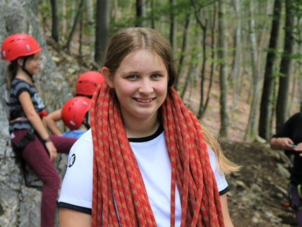 Weißt Du schon wie man ein Seil aufnimmt? All das kannst Du bei unserer Kletterfreizeit lernen.