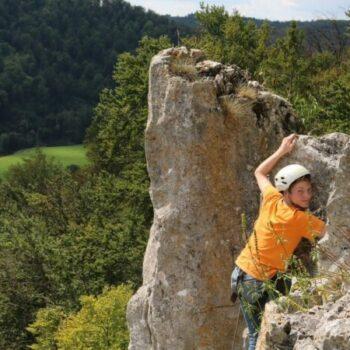 Klettern in idyllischer Landschaft!