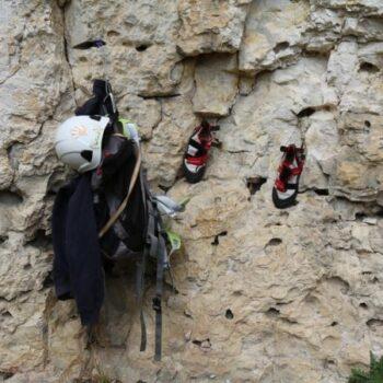 Die Kletterutensilien stehen bereit!