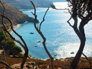 Unsere Bucht bei der Kletterreise Kalymnos