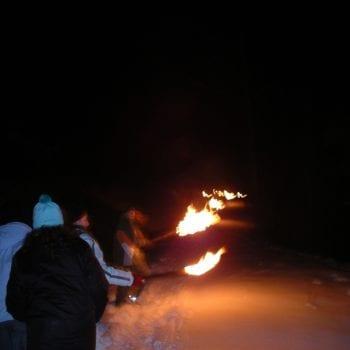 Abends wandern wir durch winterliche Welten.