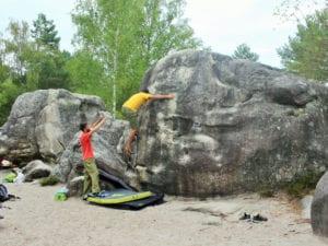 Spotten beim Bouldern