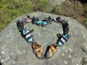 Kletterschuhe auf der Boulderreise