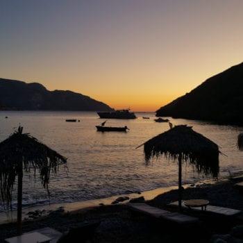 Abendstimmung auf der Kletterreise Kalymnos