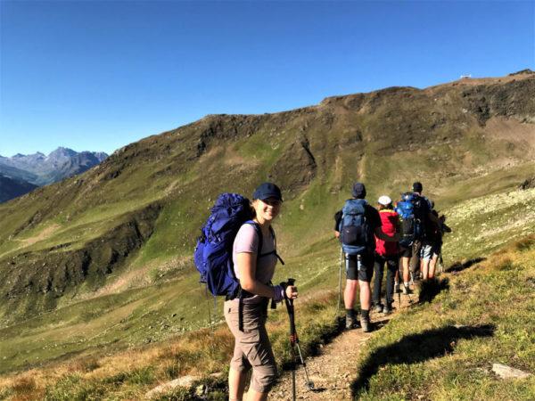 Jugendreisen von N.E.W. sind Abenteuer pur. Zum Beispiel bei der Alpenüberquerung.