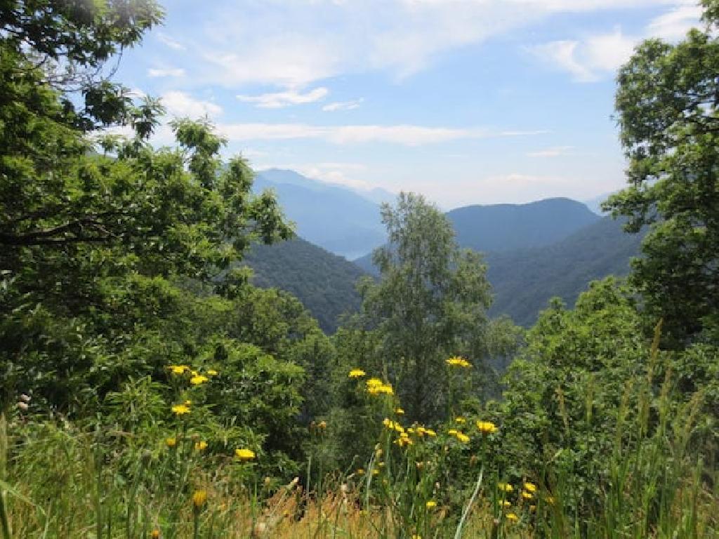 Klassenfahrt nach Italien, mit Blick über die Berge.