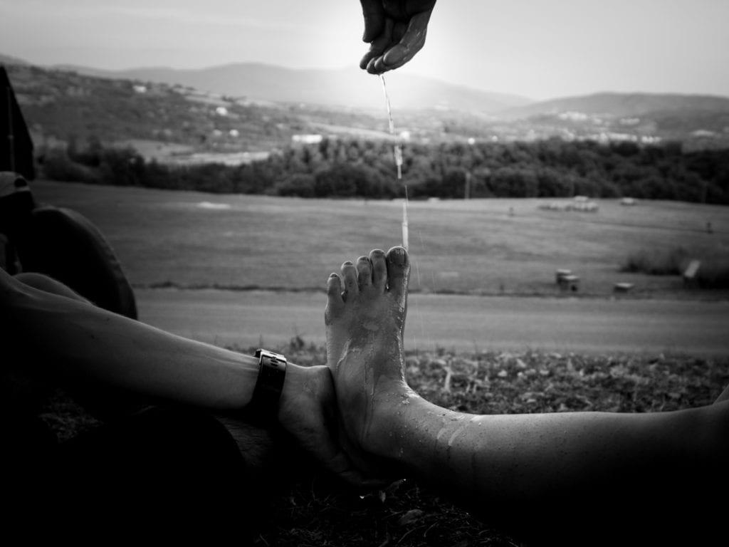 Fußpflege nach der Paarwanderung