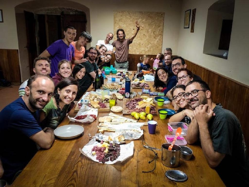 Abendessen bei der Paarwanderung