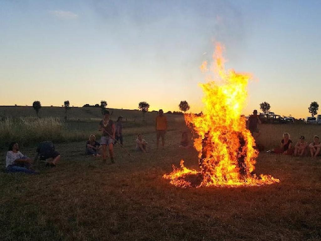 Modul Feuerlauf - allein das Feuer macht schon Eindruck!