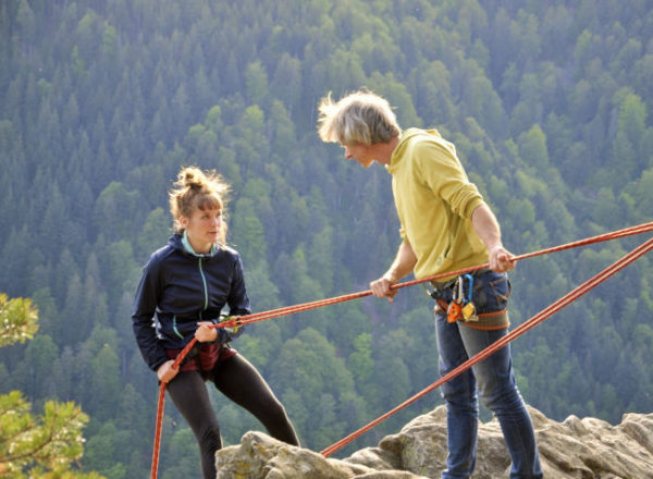 Klettern ist immer auch eine Auseinandersetzung mit der Angst