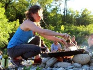 Feuerküche bildet oft einen schönen Abschluss für einen erfolgreichen Teamtag