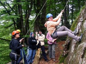 Klettern mit Groß und Klein! Eine von 1000 Ideen der Freunde -und Familientage