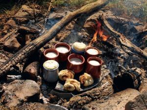 Sie lernen bei Feuer und Flamme auch verschiedene Möglichkeiten der Lagerfeuerküche kennen
