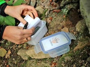 Mit GPS Geräten den nächsten Cache finden und im Team die Aufgaben darin lösen