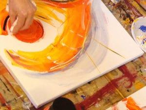 DIe intuitive Malerei verblüfft garantiert auch Sie