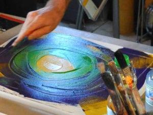 Intuitive Malerei bedeutet zu Malen ohne die Vorstellung vom perfekten Bild zu verfolgen