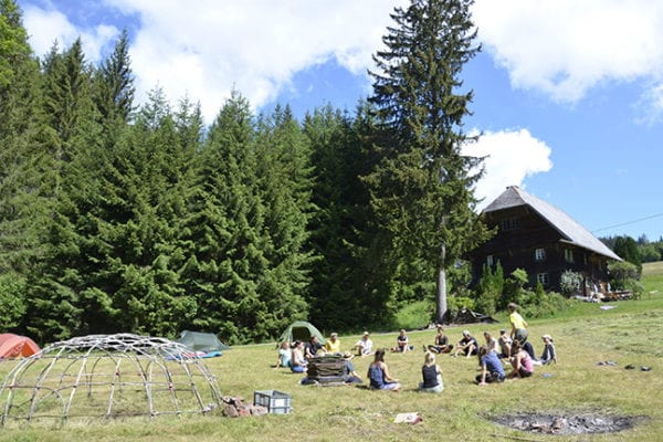 Ausbildungsgruppe im Schwarzwald
