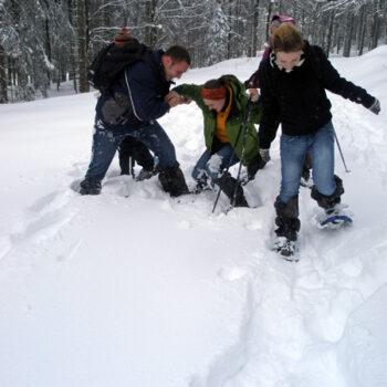 Spaß im Schnee auf Winterklassenfahrten